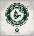 alternative eco friendly shower gel stamp vector image