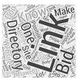 Bidding Directories Word Cloud Concept vector image vector image