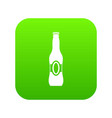 bottle of beer icon digital green vector image vector image