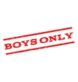 Boys Only Watermark Stamp vector image vector image