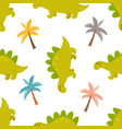 brigt seamless pattern with cute dinos vector image vector image