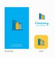 buildings company logo app icon and splash page vector image vector image