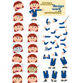 busibesswoman template for design and animation vector image vector image
