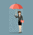 Business woman being wet from raining instead she vector image vector image
