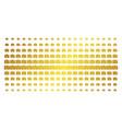 camera gold halftone matrix vector image vector image