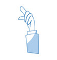 cartoon hand business man pointing up finger vector image vector image
