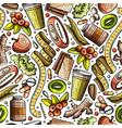 cartoon hand-drawn diet food seamless pattern vector image vector image