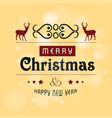 christmas greetings card design with light vector image