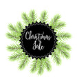christmas sale label with fir vector image vector image