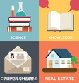 collection flat and colorful business marketing vector image