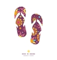colorful stars flip flops silhouettes pattern vector image vector image