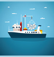 concept of river ocean and sea fishing boat vector image