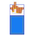 denim cigarette pack vector image vector image