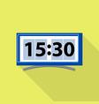 digital clock icon flat style vector image