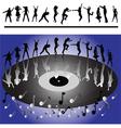 disco dansers vector image vector image