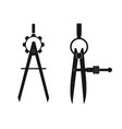 dividers -measuring tools vector image