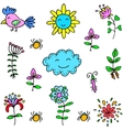 Doodle of spring item art vector image vector image
