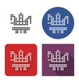 dotted icon offshore oil platform in four vector image