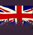 england state flag with audience vector image