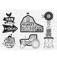 Farm vintage vector image vector image