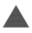 filled triangle halftone dotted icon vector image