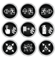 Fire Escape Icons vector image