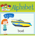 Flashcard letter B is for boat vector image vector image
