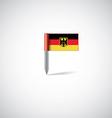 germany flag pin vector image vector image