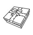 gift box icon doodle hand drawn or outline icon vector image