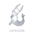 goat Capricorn vector image vector image