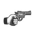 hand with gun pistol sketch vector image vector image