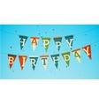 Happy birthday garland vector image vector image