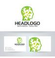 head logo design vector image vector image