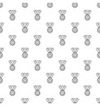 hockey champion medal pattern seamless vector image