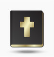 holy bible on a white background vector image vector image