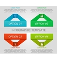Infographic geometric template vector image