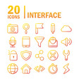 interface internet web technology digital icons vector image vector image