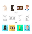 isolated object of checkmate and thin sign vector image vector image