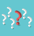 isometric unique question mark vector image vector image
