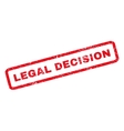 Legal Decision Rubber Stamp vector image vector image