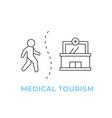 medical tourism line outline concept vector image vector image
