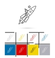 On rocket to stars line icon vector image vector image