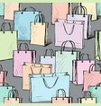 pattern of the purchases bags vector image