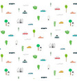 pattern with abstract city design elements vector image