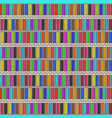 pattern with bright rows of cartoon color pencils vector image