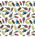 pattern with ice cream vector image vector image