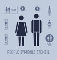 people pictograph for toilet female and male vector image