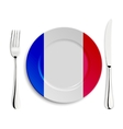Plate with flag of France vector image vector image