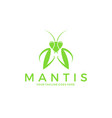 praying mantis logo vector image