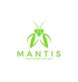 praying mantis logo vector image